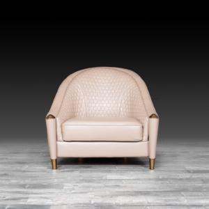 alveare beige modern accent chair