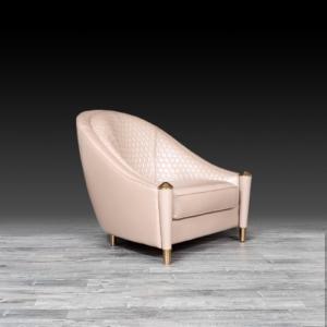 alveare beige stylish accent chair