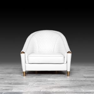 alveare white modern accent chair