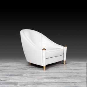 alveare white stylish accent chair
