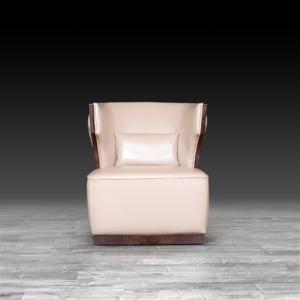 christopher beige modern accent chair