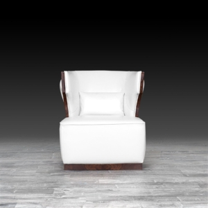 christopher white modern accent chair
