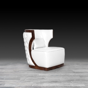 christopher white stylish accent chair