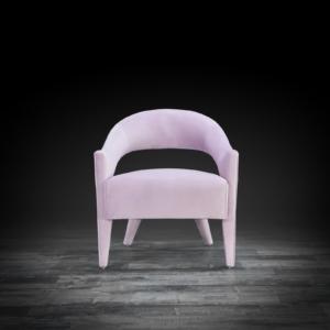 felipe purple modern accent chair