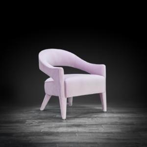 felipe purple stylish accent chair