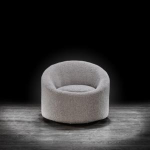 luca gray modern accent chair