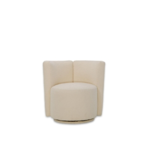 lucy cream accent chair