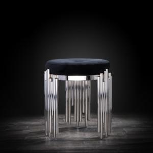 mauris silver black modern accent chair