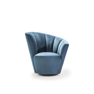 tulip laf blue accent chair
