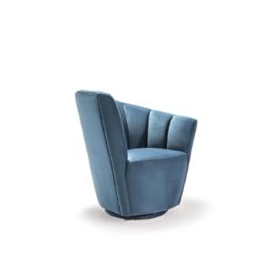 tulip laf blue modern 7 accent chair