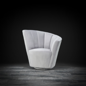 tulip laf gray modern accent chair