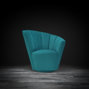 tulip laf green modern accent chair
