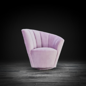 tulip laf purple modern accent chair
