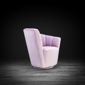 tulip laf purple stylish accent chair