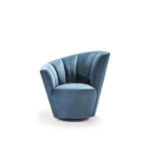 tulip raf blue accent chair