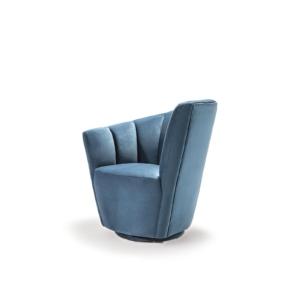 tulip raf blue modern 7 accent chair