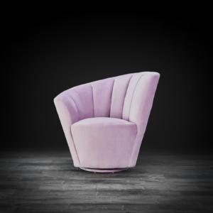 tulip raf purple modern accent chair