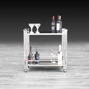 iceland silver modern bar cart