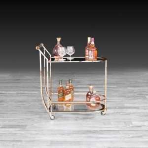 Modern York Rose Gold Bar Cart