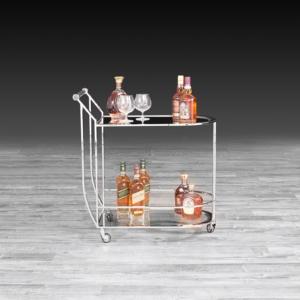york silver modern bar cart