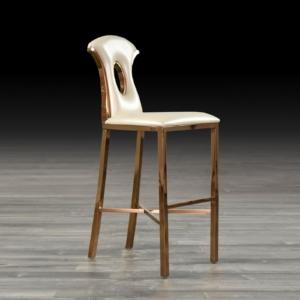 onyx white stylish bar stool