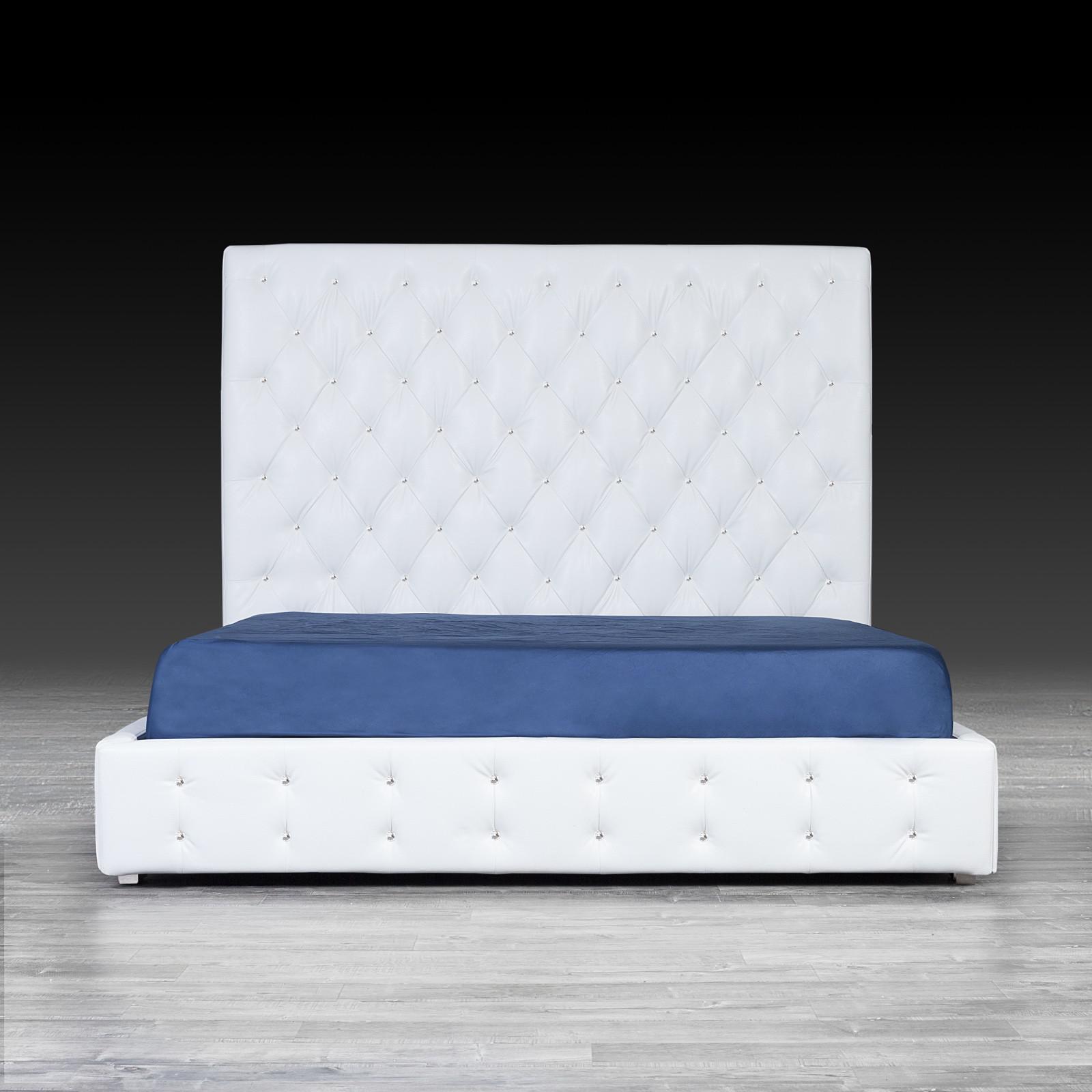 White Modern Bed Elegant Cr