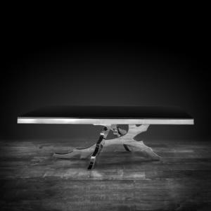 albero rectangular silver modern coffee table