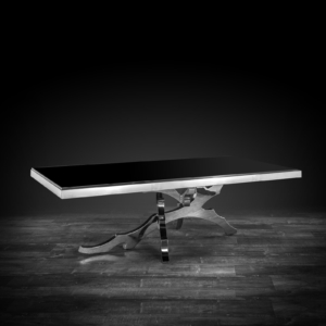 albero rectangular silver stylish coffee table
