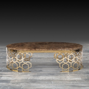 Modern Alveare Large Rose Gold Coffee Table