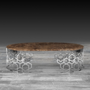 Modern Alveare Large Silver Coffee Table