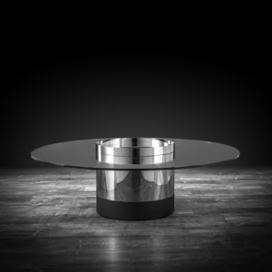 cerchio round silver modern coffee table