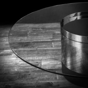 cerchio round silver stylish coffee table