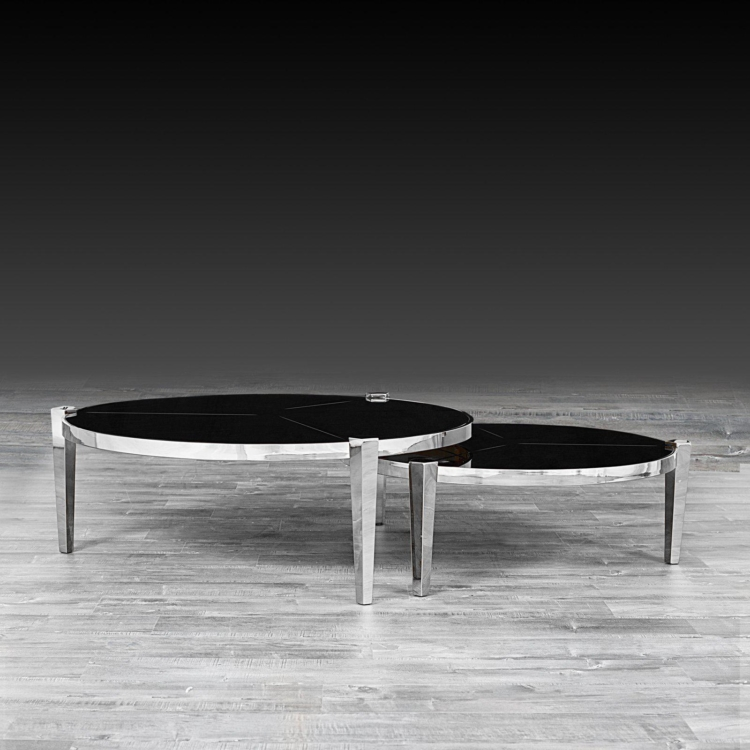 Round Silver Coffee Table Enzo
