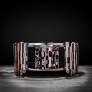 illusion round silver stylish coffee table