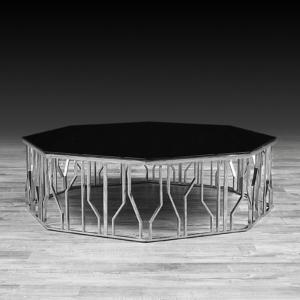 lorensia large silver stylish coffee table