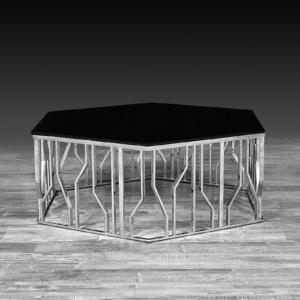 lorensia small silver stylish coffee table