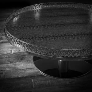 malena round silver roberto grassie coffee table