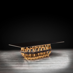 milano rectangle gold glass stylish coffee table