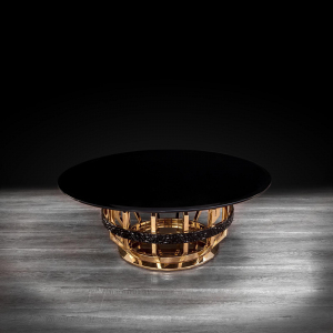 milano round gold glass stylish coffee table