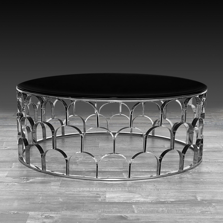 Round Coffee Table Silver 8