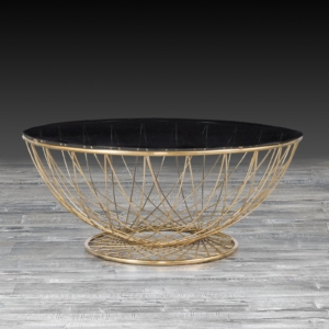Modern Torcere Gold Coffee Table
