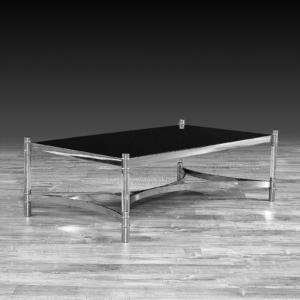 varossi rectangular silver stylish coffee table