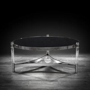 varossi round silver modern coffee table