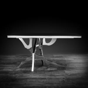 albero silver modern console table