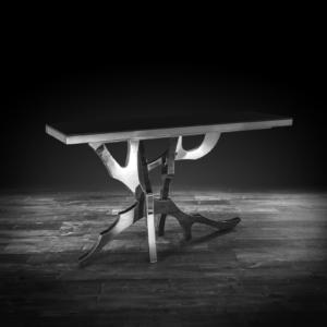 albero silver stylish console table