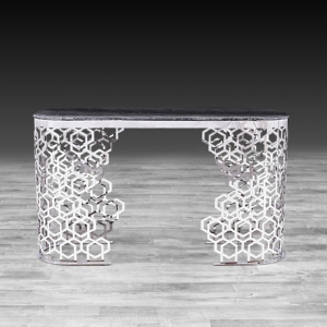 Modern Alveare Silver Console Table