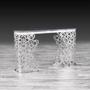 alveare silver stylish console table