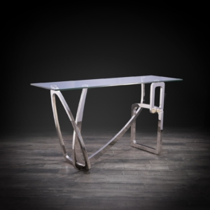 flow silver stylish console table