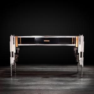illusion silver modern console table
