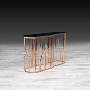 lorensia rg glass stylish console table